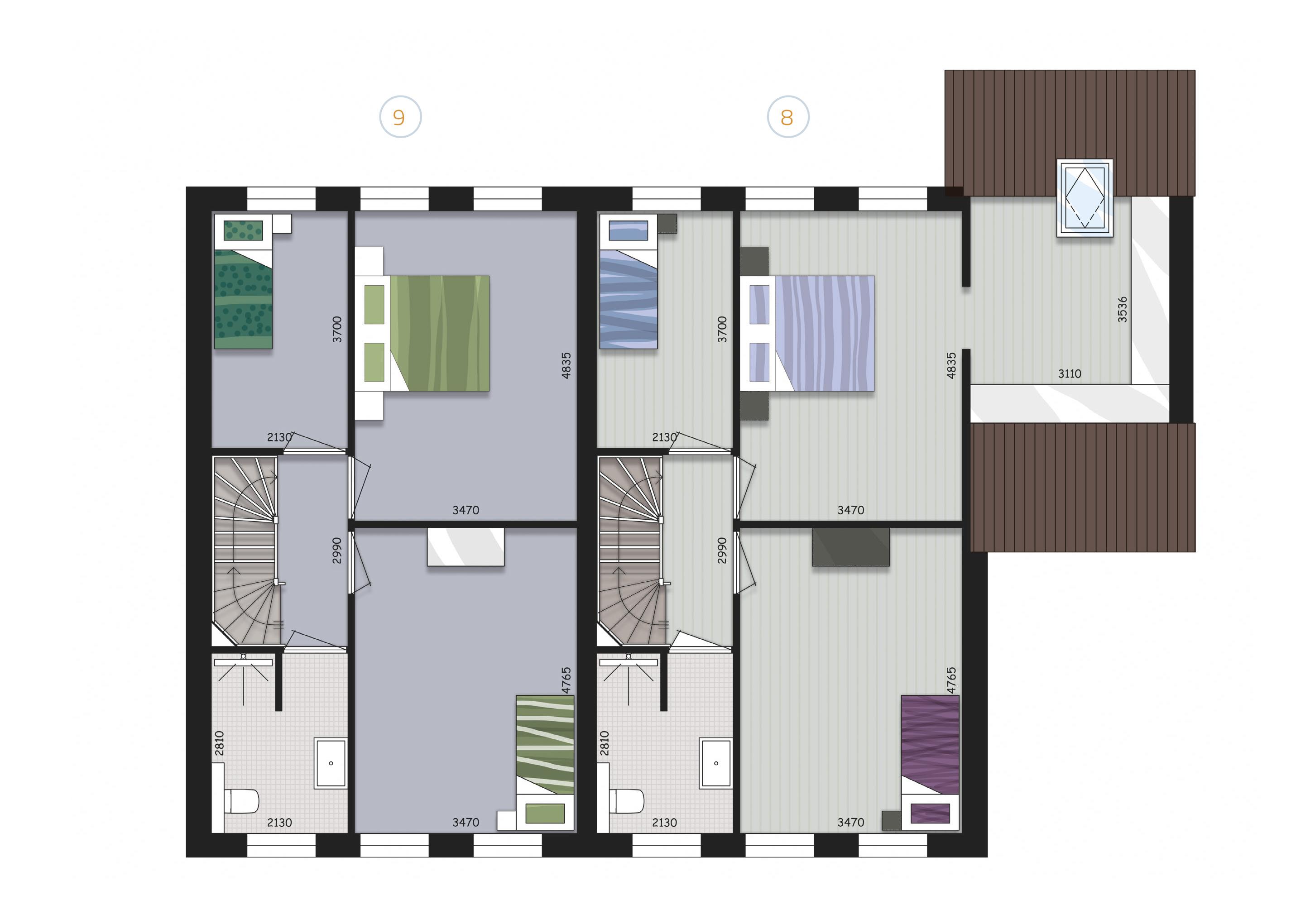 Verdieping Blok C - Zijderlaan Polsbroek